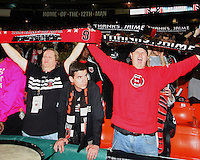 Fans salute Jaime during festivities surrounding the final appearance of Jaime Moreno in a D.C. United uniform, at RFK Stadium, in Washington D.C. on October 23, 2010. Toronto won 3-2.
