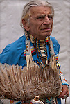 Richard (Duke of Sandy Hook) Simmons, Seneca and Iroquois Native American, dressed in Northern traditional regal.  <br />