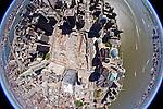 Ground Zero, NewYork City fisheye helicopter aerial