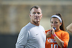 15 October 2016: Virginia head coach Steve Swanson. The Duke University Blue Devils hosted the University of Virginia Cavaliers at Koskinen Stadium in Durham, North Carolina in a 2016 NCAA Division I Women's Soccer match. Duke won the game 1-0.