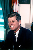 Portrait Photograph of United States President John F. Kennedy taken at the White House in Washington, D.C. on July 11, 1963..Credit: Cecil Stoughton - White House via CNP