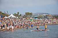 Dana Point, CA -- (Sept. 24, 2011) -- Maui's Connor Baxter, 17, won his first major stand-up paddle (SUP) championship today against the world's best in the Rainbow Sandals Gerry Lopez Battle of the Paddle in California..In the most thrilling Elite Race battle in the four-year history of the event, Baxter fought off none other than 10x world prone paddleboard champion Jamie Mitchell (Australia), and defending Battle of the Paddle.California champion Danny Ching (California) to win. The women's Elite Race was won with by an incredibly inform Candice Appleby (Oahu/San Clemente) for.the fourth consecutive year....Competing under a new qualifying round format, Elite racers paddled through a two-mile qualifier heat before taking to the final 3-mile buoy course for.the championship. Prior to today, the Battle of the Paddle Elite Race was a straight final, but ever-increasing participation called for an extended.format that went over well with the athletes. Photo: joliphotos.com
