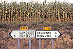 Road Signs In South Eastern France
