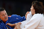 Olympic Games 2012; Judo - ExCel North Arena 2; Women's 70kg. Round of 16: Ye-Sul Hwang (KOR) Juliane Robra (SUI).