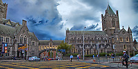 Christ Church Cathedral Dublin panoramic view.
