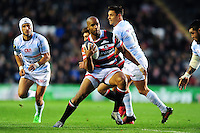 JP Pietersen of Leicester Tigers in possession. European Rugby Champions Cup match, between Leicester Tigers and Racing 92 on October 23, 2016 at Welford Road in Leicester, England. Photo by: Patrick Khachfe / JMP