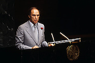 New York, NY, June 1978. Canadian Prime Minister Pierre E. Trudeau speaking at the United Nations conference. - Pierre Yves E. Trudeau, (October 18, 1919 - September 28, 2000), was the 15th Prime Minister of Canada from April 20, 1968 to June 4, 1979, and again from March 3, 1980 to June 30, 1984.