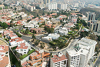 The wealthy Interlomas area of Mexico City. Aerial shots of Mexico City