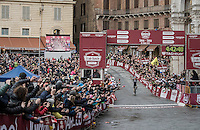 Michal Kwiatkowski (POL/SKY) wins his 2nd Strade Bianche arriving solo in the iconic Piazza Del Campo / Siena<br /> <br /> 11th Strade Bianche 2017