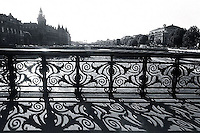 1988, Paris, France --- Iron Railing Over the Seine River --- Image by © Owen Franken/CORBIS