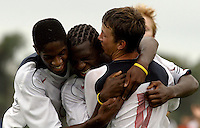 U-17 USMNT celebration, Nike Friendlies, 2004.