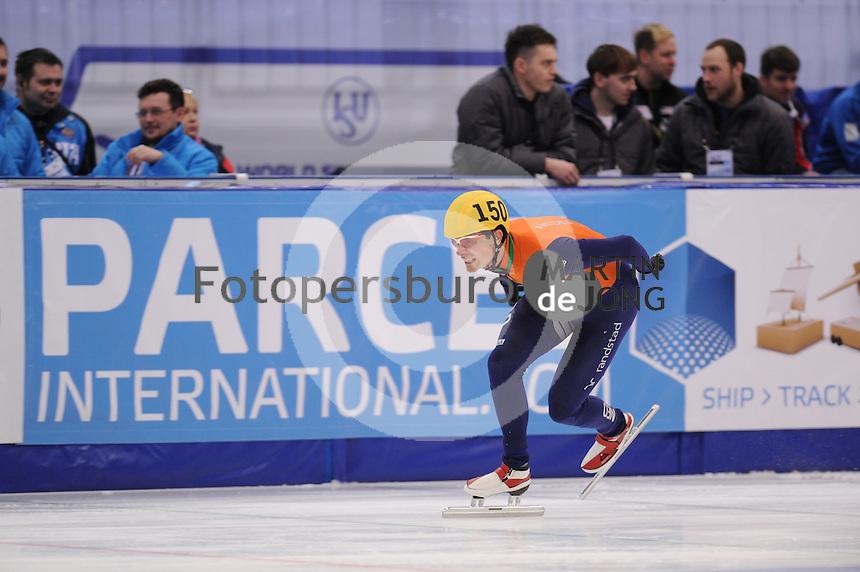 "SHORT TRACK: MOSCOW: Speed Skating Centre ""Krylatskoe"", 14-03-2015, ISU World Short Track Speed Skating Championships 2015, Ranking Races, Freek VAN DER WART (#150   NED), ©photo Martin de Jong"