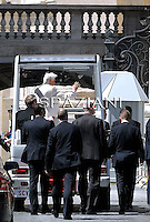 Pope Benedict XVI during his weekly general audience in St. Peter square at the Vatican, Wednesday April 13,2011