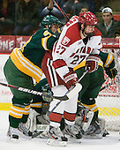 Chase Fuchs (Clarkson - 59), Petr Placek (Harvard - 27) - The Harvard University Crimson defeated the visiting Clarkson University Golden Knights 3-2 on Harvard's senior night on Saturday, February 25, 2012, at Bright Hockey Center in Cambridge, Massachusetts.
