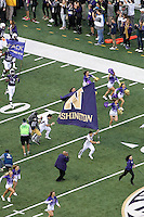 Nov 08, 2014:  Washington cheerleader David Brazier pumped up fans during the game against UCLA.  Washington defeated UCLA at Husky Stadium in Seattle, WA.