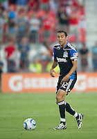 27 August 2011: San Jose Earthquakes defender Ramiro Corrales #12 in action during a game between the San Jose Earthquakes and Toronto FC at BMO Field in Toronto..The game ended in a 1-1 draw.