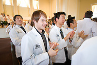 White Coat Ceremony, class of 2015. Darrell Nettlow, left, and Hank Ng.