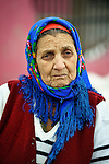 A Roma woman in the Krivac Roma Settlement--one of the largest Roma neighborhoods in the region--in Smederevo, Serbia.