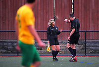 Action from the Chatham Cup football match between Victoria University of Wellington AFC and Stop Out Sports Club at Boyd Wilson Turf in Wellington, New Zealand on Saturday, 13 May 2017. Photo: Dave Lintott / lintottphoto.co.nz