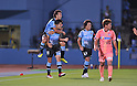 Koji Yamase (Frontale), Yu Kobayashi (Frontale), July 27, 2011 - Football / Soccer : 2011 J.LEAGUE Yamazaki Nabisco Cup, 1st Round 2nd Leg match between Kawasaki Frontale 3-1 Sanfrecce Hiroshima at Kawasaki Todoroki Stadium, Kanagawa, Japan. (Photo by Atsushi Tomura /AFLO SPORT) [1035]