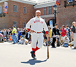 """21 May 2007:  The """"Mighty Casey"""" character strikes a pose in front of the National Baseball Hall of Fame Museum during the Game Day Parade celebrating the Hall of Fame Game in Cooperstown, NY...Mandatory Credit: Ed Wolfstein Photo"""