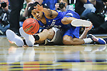 Guard Tyler UIis of the Kentucky Wildcats reaches for a loose ball during the game against the Texas A&M Aggies at the SEC Tournament Championship at Bridgestone Arena in Nashville, TN, on Sunday, March 13, 2016. Kentucky defeated Texas A&M 81-77. Photo by Michael Reaves | Staff.