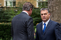 09.10.2013 - Viktor Orbán, Prime Minister of Hungary at 10 Downing Street