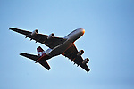 QANTAS A-380 jet flys over Sydney skys. Sydney, Australia, Wednesday, Dec. 26, 2012.(Photo: Steve Christo)