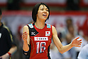 Saori Sakoda (JPN), .May 26, 2012 - Volleyball : .FIVB Women's Volleyball World Final Qualification for the London Olympics 2012 .match between Japan 0-3 Russia .at Tokyo Metropolitan Gymnasium, Tokyo, Japan. .(Photo by Daiju Kitamura/AFLO SPORT) [1045]