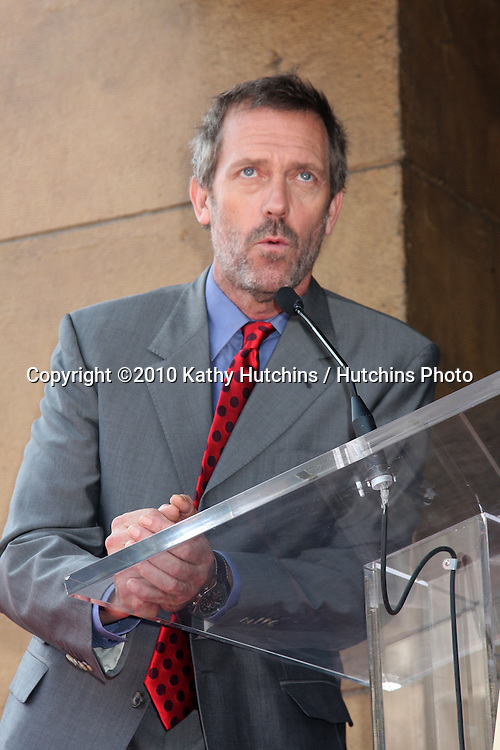 LOS ANGELES - AUGUST 5:  Hugh Laurie at the Hollywood Walk of Fame Ceremony for Emma Thompson at Hollywood Walk of Fame on August 5, 2010 in Los Angeles, CA