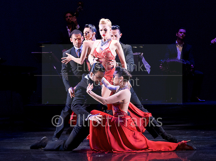 Tango Fire <br /> at The Peacock Theatre, London, Great Britain <br /> press photocall <br /> 30th January 2017 <br /> <br /> German Cornejo's Tango Fire<br /> <br /> German Cornejo &amp; Gisela Galeassi <br /> <br /> Sebastian &amp; Victoria <br /> <br /> Marcos &amp; Louise, Ezequiel &amp; Camila <br /> <br /> <br /> <br /> <br /> <br /> Photograph by Elliott Franks <br /> Image licensed to Elliott Franks Photography Services