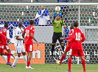 CARSON, CA - March 23, 2012: Jose Mendoza (1) goalie for Honduras during the Honduras vs Panama match at the Home Depot Center in Carson, California. Final score Honduras 3, Panama 1.