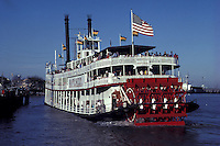 River Boat Natchez, paddle steamer, Mississippi River, New Orelans, Louisiana, USA