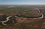 Aerial - Diamantina River from out of Birdsville