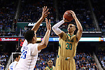 13 March 2015: Notre Dame's Zach Auguste (30) and Duke's Jahlil Okafor (15). The Notre Dame Fighting Irish played the Duke University Blue Devils in an NCAA Division I Men's basketball game at the Greensboro Coliseum in Greensboro, North Carolina in the ACC Men's Basketball Tournament semifinal game. Notre Dame won the game 74-64.