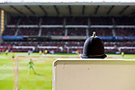 Nottingham Forest 1 Birmingham City 0, 19/04/2014. City Ground, Championship. A policeman observes proceedings during the Championship fixture between Nottingham Forest and Birmingham City from the City Ground. Nottingham Forest won the game 1-0.  Photo by Simon Gill.