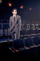 Playwright and actor Arthur Meek, photographed in the auditorium at Downstage Theatre, Wellington. Arthur Meek graduated from Toi Whakaari with a Diploma in Professional Drama (Acting) in 2006. http://www.downstage.co.nz/