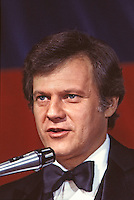 "Ken Kercheval as Cliff Barnes on set of ""Dallas,"" TV Show, 1980."