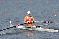 Brest, Belarus.  CAN BLW1X, Catherine BOUCHARD-PILOTE. at the start.  2010. FISA U23 Championships. Thursday,  22/07/2010.  [Mandatory Credit Peter Spurrier/ Intersport Images]
