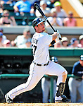 11 March 2009: Detroit Tigers' outfielder Brent Clevlen in action during a Spring Training game against the New York Yankees at Joker Marchant Stadium in Lakeland, Florida. The Tigers defeated the Yankees 7-4 in the Grapefruit League matchup. Mandatory Photo Credit: Ed Wolfstein Photo