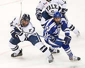Ken Trentowski (Yale - 12), Derrick Burnett (Air Force - 17) - The Yale University Bulldogs defeated the Air Force Academy Falcons 2-1 (OT) in their East Regional Semi-Final matchup on Friday, March 25, 2011, at Webster Bank Arena at Harbor Yard in Bridgeport, Connecticut.
