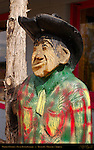Wooden Cowboy, Dusty Bunch, Dusty Bunch Gallery, Route 66, Williams, Arizona