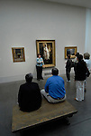 Philadelphia Museum of Art, docent guide leading tour..Philadelphia, Pennsylvania, PA USA.  Photo copyright Lee Foster, 510-549-2202, lee@fostertravel.com, www.fostertravel.com.  Photo 216-30607