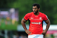Billy Vunipola of Saracens looks on during a break in play. Aviva Premiership match, between Harlequins and Saracens on September 24, 2016 at the Twickenham Stoop in London, England. Photo by: Patrick Khachfe / JMP