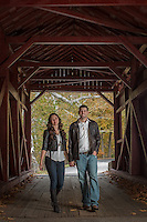 Rachel & Brad's engagement session at Mingo Creek State Park in Findleyville, PA on October 12, 2014.