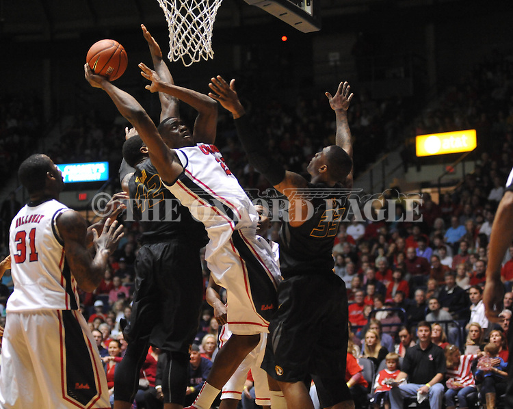 Ole Miss' Reginald Buckner (23) vs. Missouri at the C.M. &quot;Tad&quot; Smith Coliseum on Saturday, January 12, 2013. Ole Miss defeated #10 ranked Missouri 64-49.