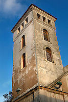 Bell tower of the Church of the Assumption, built in the Manueline style of late Gothic architecture, 16th century, Portuguese Fortified city of Mazagan, El Jadida, Morocco. El Jadida, previously known as Mazagan (Portuguese: Mazag√£o), was seized in 1502 by the Portuguese, and they controlled this city until 1769. Picture by Manuel Cohen