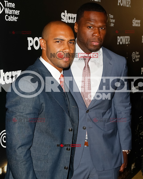 "New York, NY -  June 2 : Executive Producer Curtis ""50 Cent"" Jackson and Actor Omari Hardwick attend the Power Premiere held at the Highline Ballroom on June 2, 2014 in New York City. Photo by Brent N. Clarke / Starlitepics"
