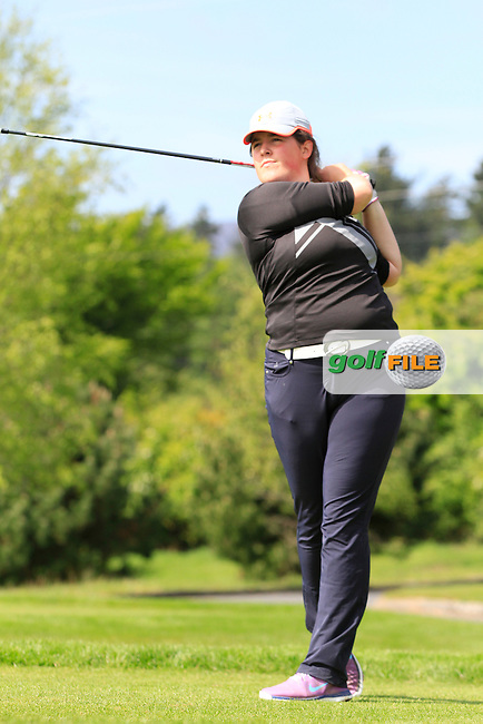 Alice Hutchinson (ST. Anne's) on the 7th tee during Round 1 of the Irish Women's Open Strokeplay Championship at Dun Laoghaire Golf Club on Saturday 23rd May 2015.<br /> Picture:  TJ Caffrey / www.golffile.ie
