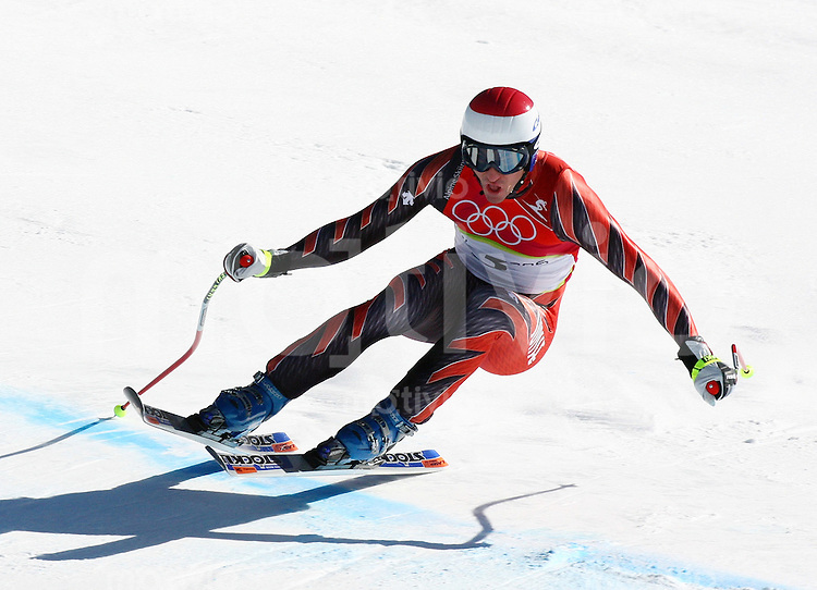 Olympia 20. Olympische Winterspiele 2006 Turin Ski Alpine - Abfahrt Herren Tobias Gruenenfelder (SUI)